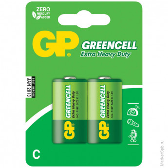 Элемент питания R14 GP Greencell 14G BC2