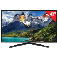 "Телевизор SAMSUNG 43"" (109,2 см) 43N5500, LED, 1920x1080 Full HD, Smart TV, Wi-Fi, HDMI, USB, черный, 13 кг"