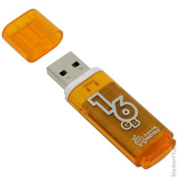 "Память Smart Buy ""Glossy"" 16GB, USB2.0 Flash Drive, оранжевый"