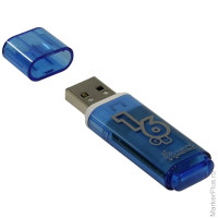 "Память Smart Buy ""Glossy"" 16GB, USB2.0 Flash Drive, голубой"