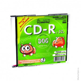 Диск CD-R 700Mb Smart Buy 48-52x с картинкой Slim