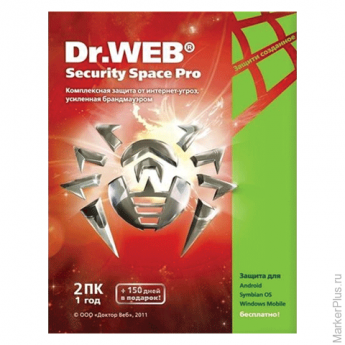 "Антивирус DR.WEB ""Security Space"", 2 ПК, 1 год, бокс, BHW-B-12M-2A3"