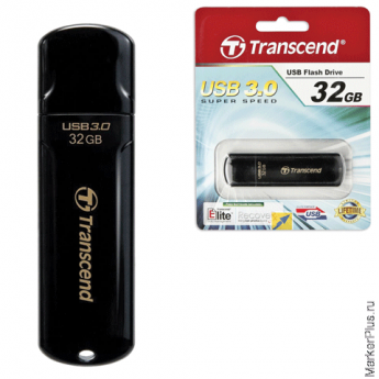 Флэш-диск 32 GB, TRANSCEND Jet Flash 700, USB 3.0, черный, TS32GJF700