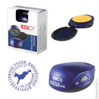 Оснастка для печатей оттиск D=40мм син, COLOP STAMP MOUSE R40, корпус цвета индиго (синий), ш/к34573