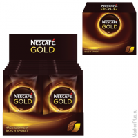 "Кофе растворимый NESCAFE ""Gold"", сублимированный, 30 пакетов по 2г (упаковка 60г), 12138020"