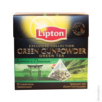 Чай Lipton Green Gunpowder, зеленый, 20*1,8г, пирам.пак