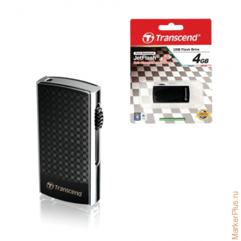 Флэш-диск 4 GB, TRANSCEND Jet Flash 560, USB 2.0, черный, TS4GJF560