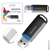 Флэш-диск 16 GB, A-DATA C906, USB 2.0, черный, AC906-16G-RBK