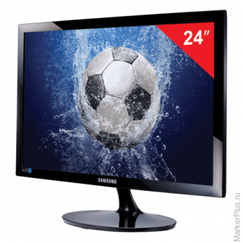 "Монитор LED 24""(61см) SAMSUNG LS24D300HSI/RU 1920x1080/TN+film/16:9/HDMI/D-Sub/250cd/2ms/чер"