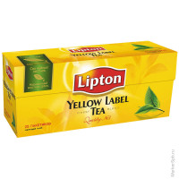 Чай Lipton Yellow Label, черный, 25*2г