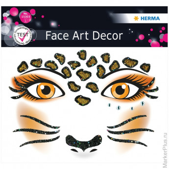 "Наклейки для лица 12*12,7см, ""Face Art. Leopard"""