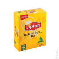 Чай Lipton Yellow Label, черный, 100 пакетиков по 2 грамма