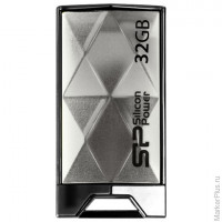 Флэш-диск 32 GB, SILICON POWER 850 USB 2.0, титановый, SP32GBUF2850V1T