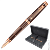 Ручка шариковая PARKER Premier Luxury Brown PGT корпус латунь, лак, позол. детали, 0876379, черная