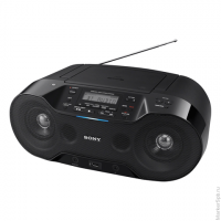 Магнитола SONY ZS-RS70BT, CD-RW, CD-R, MP3,вых.мощ.4,6Вт, USB, FM/AM тюнер, Bluetooth, NFC, ЖК-дис, цв.чёр