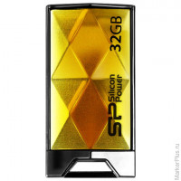 Флэш-диск 32 GB, SILICON POWER 850, USB 2.0, янтарный, SP32GBUF2850V1A