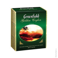 Чай Greenfield Golden Ceylon, черный, 100 фольгированных пакетиков по 2 грамма