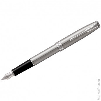 "Ручка перьевая Parker ""Sonnet Stainless Steel CT"" 0,8мм, подар. уп."
