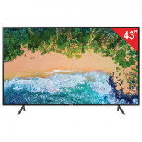 "Телевизор SAMSUNG 43"" (109,2 см) 43NU7100, LED, 3840x2160 UHD, Smart TV, Wi-Fi, 100 Гц, HDMI, USB, черный, 9,8 кг"