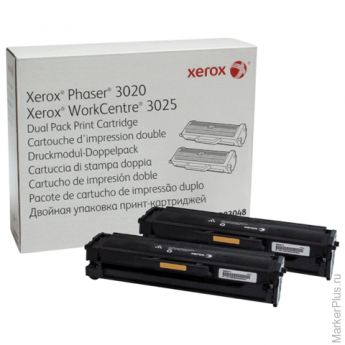Картридж лазерный XEROX (106R03048) Phaser 3020/WC3025, ориг., ресурс 1500 стр. КОМПЛЕКТ 2шт