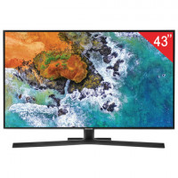 "Телевизор SAMSUNG 43"" (109,2 см) 43NU7400, LED, 3840x2160 UHD, Smart TV, Wi-Fi, HDMI, USB, черный, 16,5 кг"