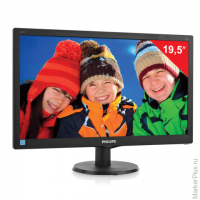 "Монитор LED 19,5"" (50 см) PHILIPS 203V5LSB2, 1600x900, TN+film,16:9, D-Sub, 200 cd, 5 ms, черный"