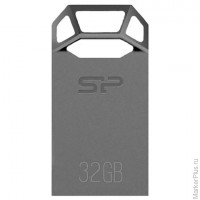 Флэш-диск 32 GB, SILICON POWER J50 USB 3.0, серый, SP32GBUF3J50V1T