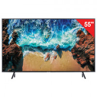 "Телевизор SAMSUNG 55"" (139,7 см) 55NU7100, LED, 3840x2160 UHD, Smart TV, Wi-Fi, HDMI, USB, черный, 23 кг"