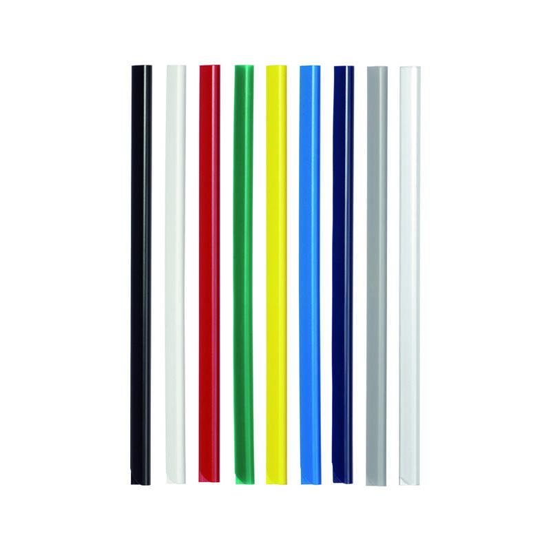 Скрепкошина SPINE BARS пластик на 60 листов А4 красная