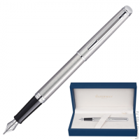 Ручка перьевая WATERMAN Hemisphere Stainless Steel CT, корпус нерж.сталь, покр.хром, S0920410, синяя