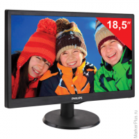 "Монитор LED 18,5"" (47 см) PHILIPS 193V5LSB2, 1366x768, TN+film, 16:9, D-Sub, 200 cd, 5 ms, черный, 1"