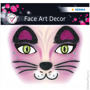 "Наклейки для лица 12*12,7см, ""Face Art. Cat"""