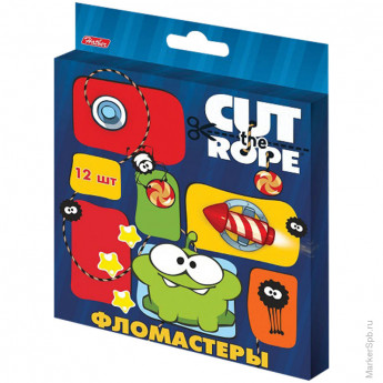 "Фломастеры ""CUT THE ROPE"" 12цв., картон. уп., европодвес"