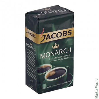Кофе молотый JACOBS MONARCH, натуральный, 250г, вакуумная упаковка, 21559