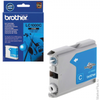 Картридж струйный BROTHER (LC1000C) DCP-130C/770CW/MFC-240C/680CN и др, голубой ориг, ресурс 400стр.