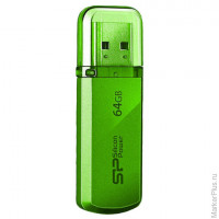 Флэш-диск 64 GB, SILICON POWER 101 USB 2.0, зеленый, SP64GBUF2101V1N