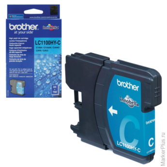 Картридж струйный BROTHER (LC1100HYC) DCP-6690CW/MFC-5890CN/5895CW и др, голубой ориг. ресурс 750стр