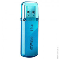 Флэш-диск 64 GB, SILICON POWER 101 USB 2.0, синий, SP64GBUF2101V1B