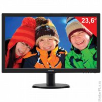 "Монитор LED 23.6""(60см) PHILIPS TN+film/16:9/DVI/HDMI/D-Sub/250cd/1920x1080/5ms/чер 243V5LHAB"
