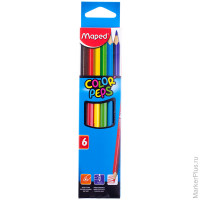 "Карандаши Maped ""Color Peps"", 06цв., трехгран., заточен., картон, европодвес"