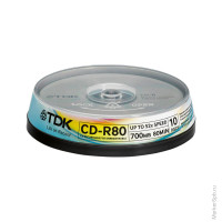 Диск CD-R 700Mb TDK 52x Cake Box (10шт)