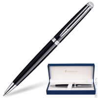 Ручка шариковая WATERMAN Hemisphere Mars Black CT, корпус черный,детали паллад.покрытие,S0920570,син