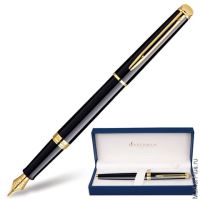 Ручка перьевая WATERMAN Hemisphere Mars Black GT, корпус черный, позолоч. детали, S0920610, син