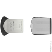 Память SanDisk USB Flash 64GB CZ43 Ultra Fit USB 3.0 хром