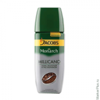 "Кофе молотый в растворимом JACOBS MONARCH ""Millicano"", сублимированный, 95г, ст.банка, 41015"