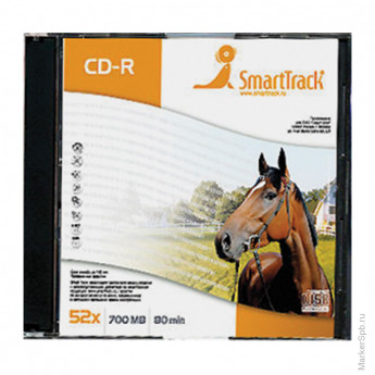 Диск CD-R 700Mb Smart Track 52x Slim