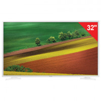 "Телевизор SAMSUNG 32"" (81,2 см) 32N4510, LED, 1366x768 HD, Smart TV, Wi-Fi, HDMI, USB, белый, 6,1 кг"